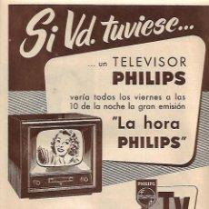 Coleccionismo: AÑO 1957 RECORTE PRENSA PUBLICIDAD MAGALLANES TELEVISOR PHILIPS. Lote 124973483