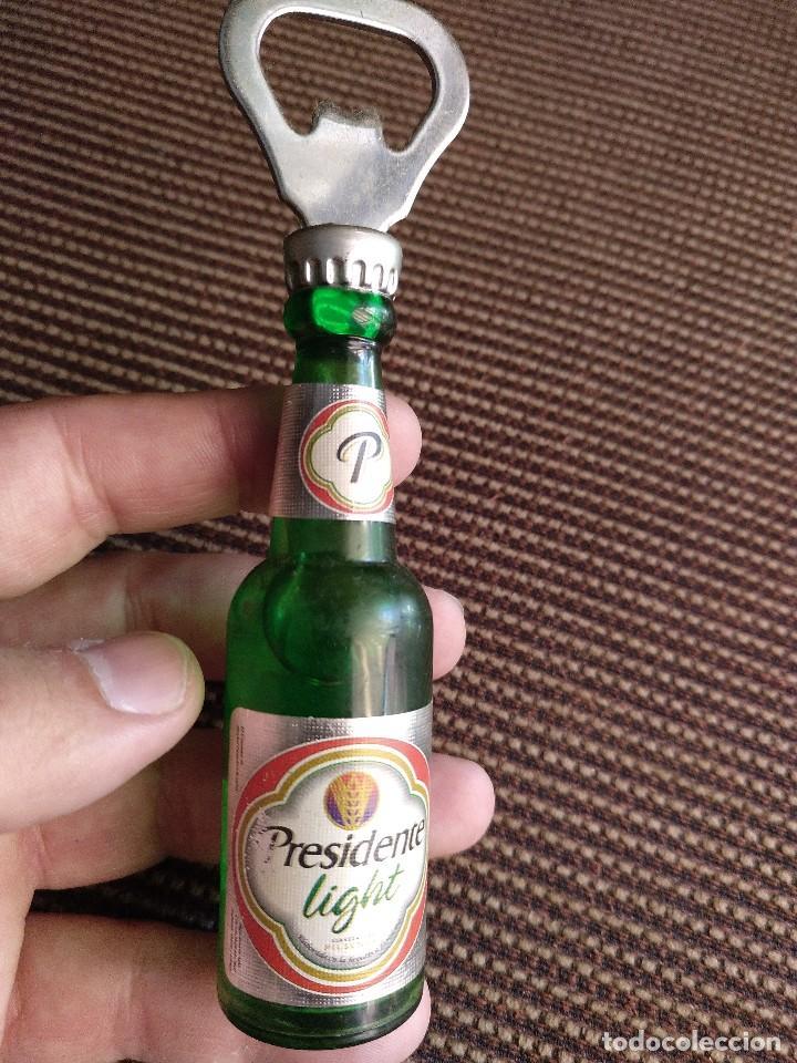 Coleccionismo: Imán abridor botella presidente light - Foto 3 - 125049191