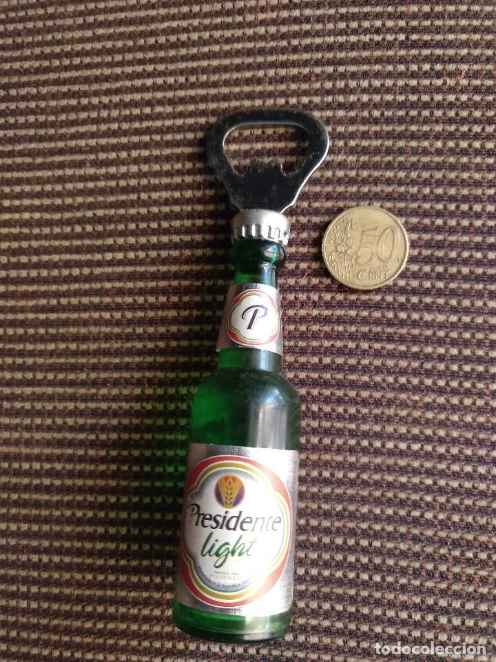 Coleccionismo: Imán abridor botella presidente light - Foto 4 - 125049191