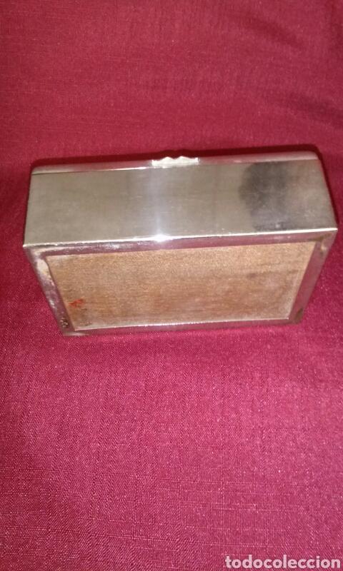 Coleccionismo: Caja metalica para tabaco, interior de madera. Cigarettes. 13x9x5 cm. - Foto 6 - 125088443