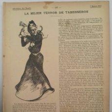 Coleccionismo: LA MUJER TERROR DE TABERNEROS. 1901. ALREDEDOR DEL MUNDO.. Lote 125131187
