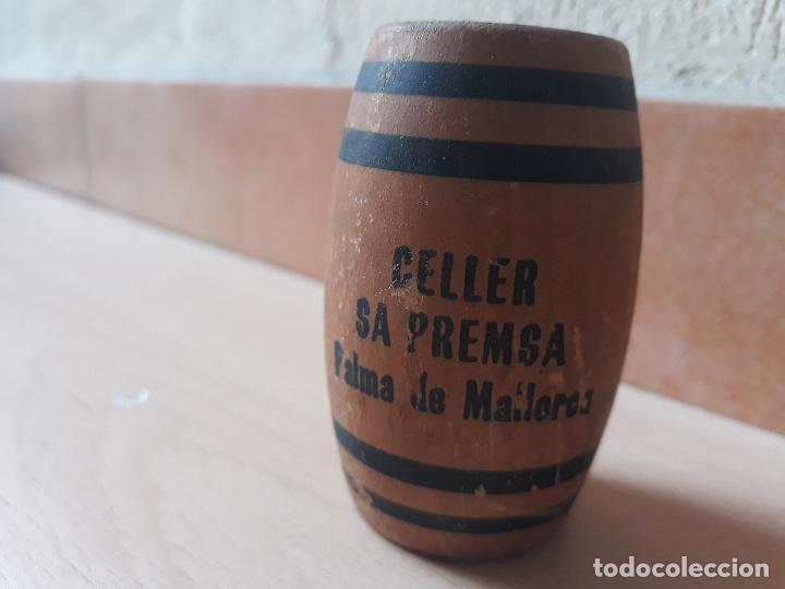 ANTIGUO PALILLERO BARRIL DE MADERA- CELLER SA PREMSA- PALMA DE MALLORCA (Coleccionismo - Varios)