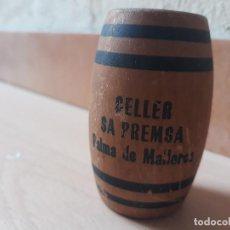 Coleccionismo: ANTIGUO PALILLERO BARRIL DE MADERA- CELLER SA PREMSA- PALMA DE MALLORCA. Lote 125440211