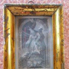 Coleccionismo: ALCOY(ALICANTE) EL NIÑO JESUS DEL MILAGRO.1814.GRABADO CON MARCO DE ÉPOCA.VENERADO EN LAS AGUSTINAS.. Lote 125846119