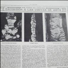 Coleccionismo: EXCURSIÓN A LAS CUEVAS DE ARTÀ EN MALLORCA . Lote 125900435
