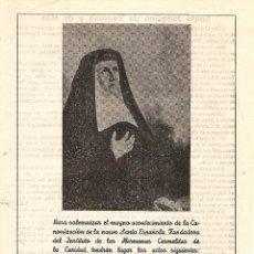 Coleccionismo: ALCOY (ALICANTE) - PROGRAMA ACTOS CON MOTIVO DE LA CANONIZACIÓN FUNDADORA HERMANAS CARMELITAS - 1959. Lote 126037995