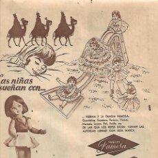 Coleccionismo: AÑO 1960 RECORTE PRENSA PUBLICIDAD MUÑECAS FAMOSA VOLKSWAGEN ESPAÑOLA. Lote 126065043