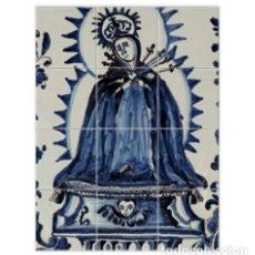 Coleccionismo: RETABLO DE 12 AZULEJOS 15X15 CON VIRGEN DE LOS DOLORES CON AZUL COBALTO. Lote 126271963