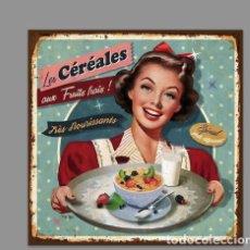 Coleccionismo: AZULEJO 20X20 TIPO VINTAGE DE CEREALES. Lote 126471043