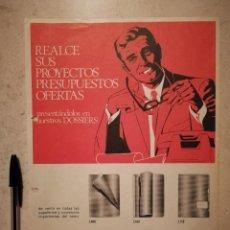 Coleccionismo: LAMINA ORIGINAL (A4) AÑO 1971 - PARDO DOSSIER - ALBUM - PUBLICIDAD - CARPETA PAPELERIA. Lote 126696111