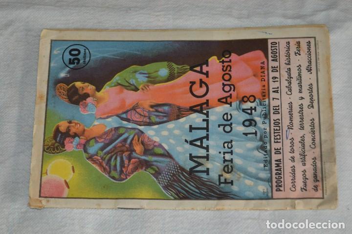 Coleccionismo: IMPRESIONANTE PROGRAMA - Málaga, Feria de Agosto de 1948 - Precioso - Publicitaria Diana - envío 24h - Foto 2 - 126714323