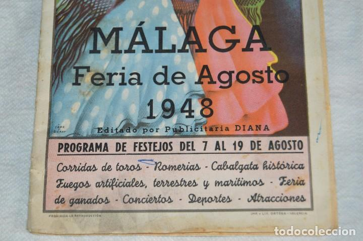 Coleccionismo: IMPRESIONANTE PROGRAMA - Málaga, Feria de Agosto de 1948 - Precioso - Publicitaria Diana - envío 24h - Foto 5 - 126714323