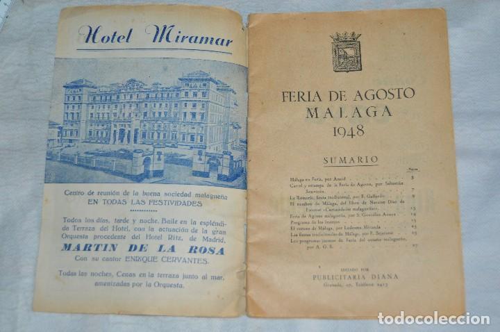 Coleccionismo: IMPRESIONANTE PROGRAMA - Málaga, Feria de Agosto de 1948 - Precioso - Publicitaria Diana - envío 24h - Foto 8 - 126714323