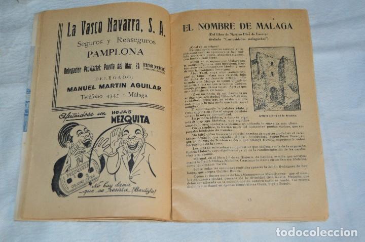 Coleccionismo: IMPRESIONANTE PROGRAMA - Málaga, Feria de Agosto de 1948 - Precioso - Publicitaria Diana - envío 24h - Foto 10 - 126714323