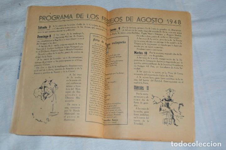 Coleccionismo: IMPRESIONANTE PROGRAMA - Málaga, Feria de Agosto de 1948 - Precioso - Publicitaria Diana - envío 24h - Foto 11 - 126714323