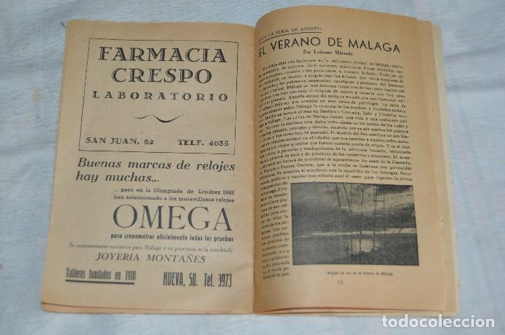 Coleccionismo: IMPRESIONANTE PROGRAMA - Málaga, Feria de Agosto de 1948 - Precioso - Publicitaria Diana - envío 24h - Foto 12 - 126714323