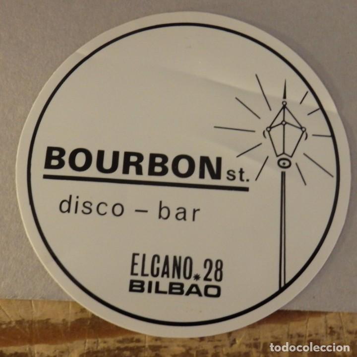 BILBAO, ANTIGUO POSAVASO DISCO - BAR BOURBON ST. (Coleccionismo - Varios)