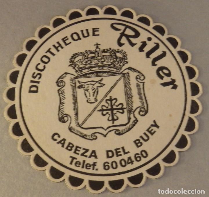 CABEZA DEL BUEY, BADAJOZ, ANTIGUO POSAVASO DISCOTHEQUE RILLER (Coleccionismo - Varios)