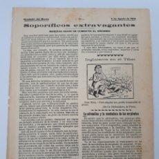 Coleccionismo: SOPORÍFICOS EXTRAVAGANTES. MANERS RARAS DE COMBATIR EL INSOMNIO. 1904. Lote 126944034