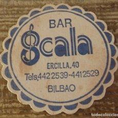 Coleccionismo: BILBAO, ANTIGUO POSAVASO BAR SCALA. Lote 127109111