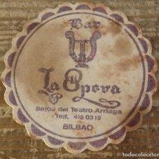 Coleccionismo: BILBAO, ANTIGUO POSAVASO BAR LA OPERA. Lote 127109219