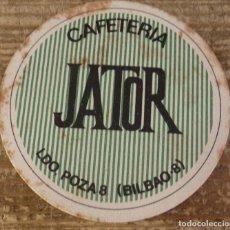 Coleccionismo: BILBAO, ANTIGUO POSAVASO CAFETERIA JATOR. Lote 127109291