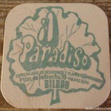 Coleccionismo: BILBAO, ANTIGUO POSAVASO BAR IL PARADISO. Lote 127109479