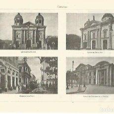 Coleccionismo: LAMINA ESPASA 28296: VISTAS DE CARACAS VENEZUELA. Lote 127149384