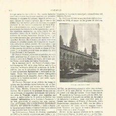 Coleccionismo: LAMINA ESPASA 28298: UNIVERSIDAD DE CARACAS VENEZUELA. Lote 127149547