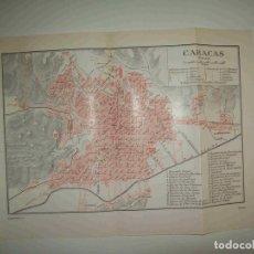 Coleccionismo: LAMINA ESPASA 28300: PLANO DE CARACAS. Lote 127149815