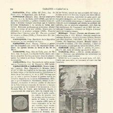 Coleccionismo: LAMINA ESPASA 28302: TEMPLETE EN CARAVACA MURCIA. Lote 127149959