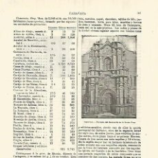 Coleccionismo: LAMINA ESPASA 28303: SANTUARIO DE LA SANTA CRUZ EN CARAVACA MURCIA. Lote 127150040