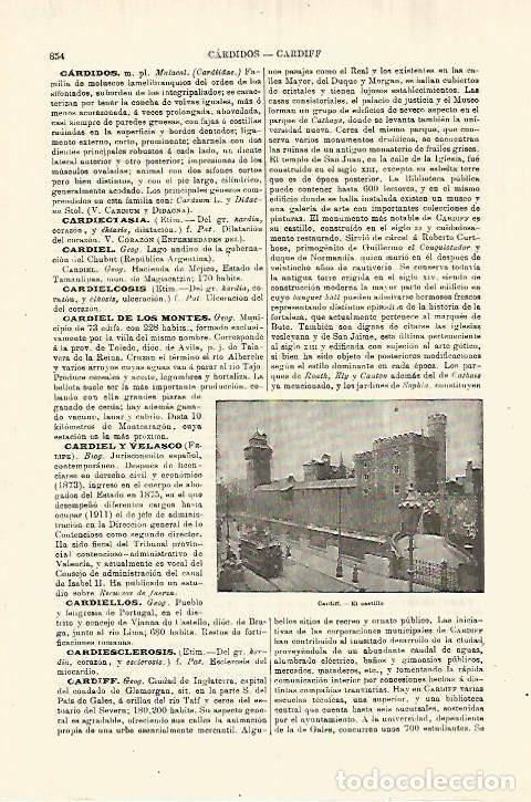 LAMINA ESPASA 28322: CASTILLO DE CARDIFF (Coleccionismo - Laminas, Programas y Otros Documentos)