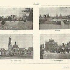 Coleccionismo - LAMINA ESPASA 28323: Vistas de Cardiff - 127151462