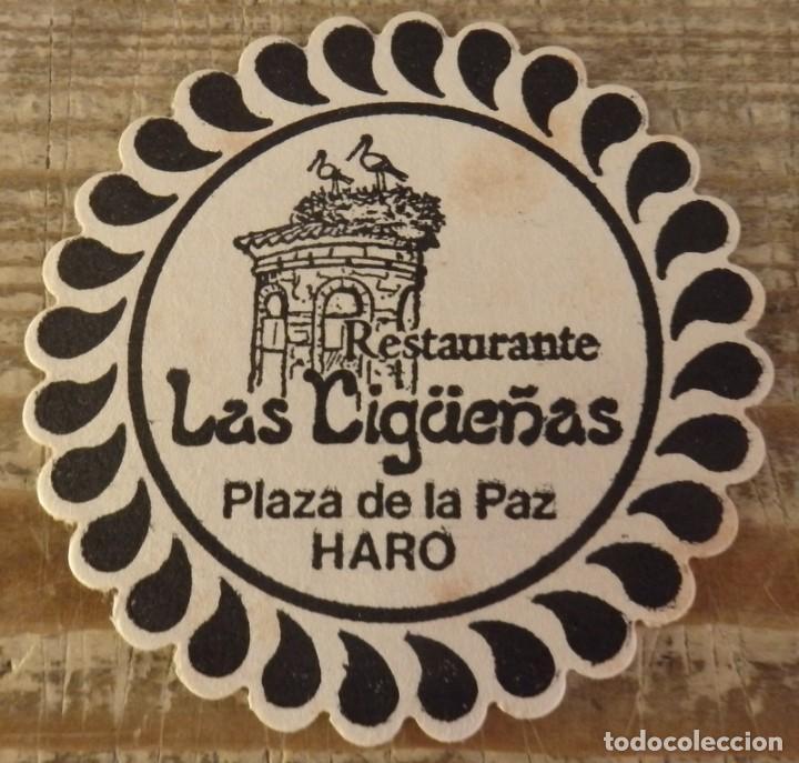 HARO, LA RIOJA, ANTIGUO POSAVASO RESTAURANTE LAS CIGUEÑAS (Coleccionismo - Varios)