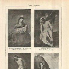 Coleccionismo: LAMINA ESPASA 28215: ESCULTURAS HECHAS POR ALONSO CANO. Lote 127158207