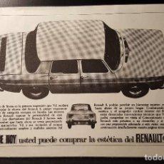 Collectionnisme: HOJA PUBLICIDAD. RENAULT 8. DESDE YA PUEDE COMPRAR LA ESTETICA DE RENAULT 8. 1965. Lote 127159111