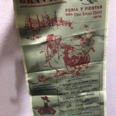 Coleccionismo: CARTEL DE TOROS EN SEDA PLAZA DE TOROS GRANADA FIESTAS CORPUS 1972. Lote 127487911