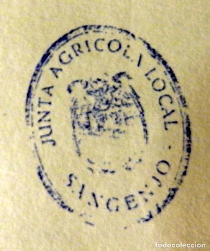 Coleccionismo: SANGENJO, ANTIGUO SELLO DE CAUCHO JUNTA AGRICOLA LOCA, AGUILA DE SAN JUAN - Foto 4 - 127618003