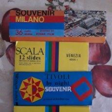 Coleccionismo: 4 PAQUETES DIAPOSITIVAS CIUDADES DE ITALIA. SOUVENIR AÑOS 90. KODAK. Lote 127765235