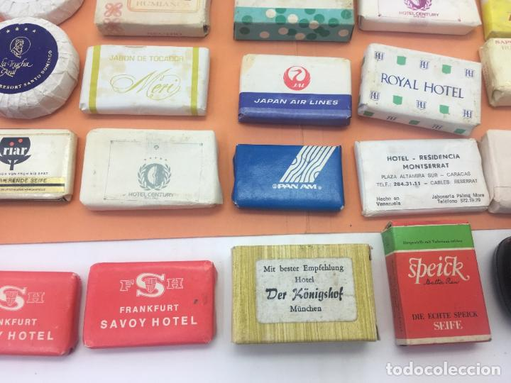 Coleccionismo: LOTE DE 50 Ó 60 PASTILLAS DE MINI JABONES DE HOTELES, LINEAS AEREAS, ETC. LOTE Nº2 - Foto 7 - 127823359