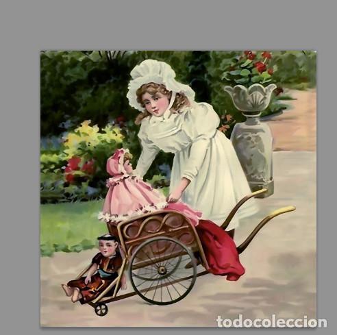 Azulejo 20x20 De Niña Con Muñeca Estilo Vintage Comprar En