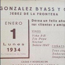 Coleccionismo: ANUNCIO GONZÁLEZ BYASS DE JEREZ DE LA FRONTERA . Lote 128040115