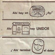 Coleccionismo: AÑO 1959 RECORTE PRENSA PUBLICIDAD UNIDOR CALMANTE DOLOR FARMACIA. Lote 128055951