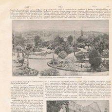 Coleccionismo: LÁMINA CARACAS, VENEZUELA. DICCIONARIO ENCICLOPÉDICO HISPANO-AMERICANO 1888. Lote 128064931