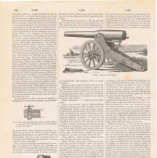Coleccionismo: LÁMINA CAÑÓN ALVAREZ SOTOMAYOR. DICCIONARIO ENCICLOPÉDICO HISPANO-AMERICANO 1888. Lote 128065803