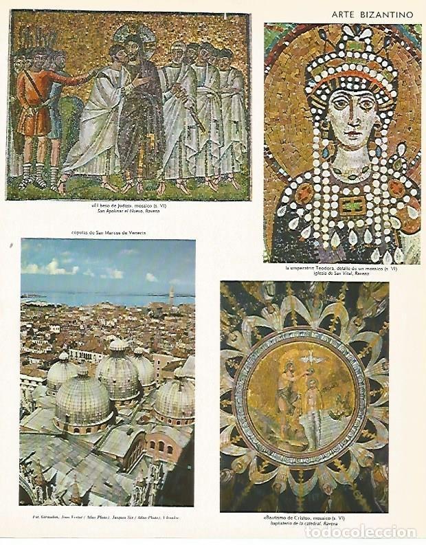 LAMINA LAROUSSE 70312: ARTE BIZANTINO (Coleccionismo - Laminas, Programas y Otros Documentos)