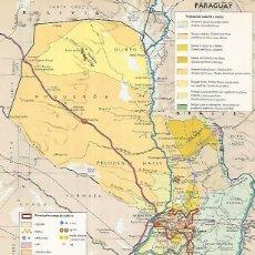Coleccionismo: LAMINA LAROUSSE 70337: MAPA DE PARAGUAY. Lote 127970839