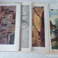 Coleccionismo: 40LAMINAS DE PINTORES VARIOS, TODAS DIFERENTES, 28X45 APROX.. Lote 128171431