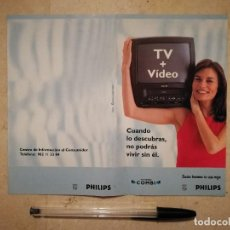 Coleccionismo: FOLLETO PUBLICIDAD ORIGINAL - PHILIPS COMBI - ALBUM - TV VIDEO . Lote 128397199